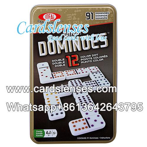 Leuchtend unsichtbare Tinte Doppel zwölf Farbflecken Domino