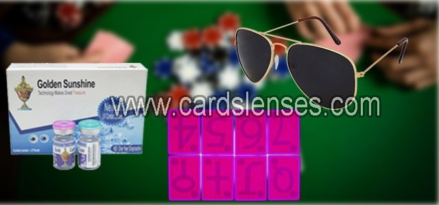 luminous contact lenses and invisible ink sunglasses for marked cards