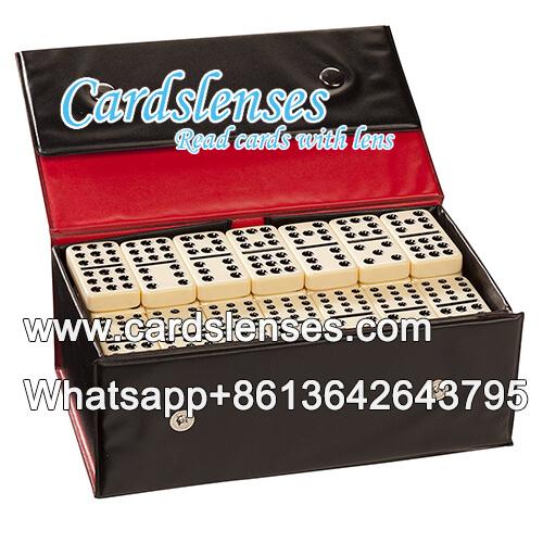 Zurück markierte doppelt zwölf schwarze Pip markiert Domino zum Verkauf