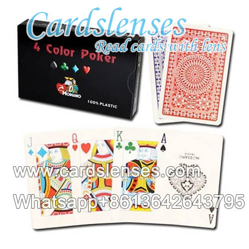 marked cards Modiano 4 color plastic cards