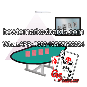 magic infrared playing cards scanner