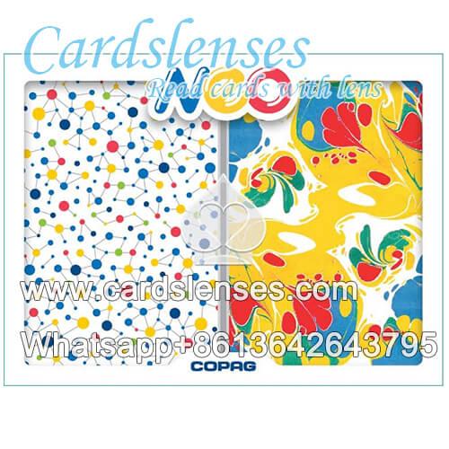 Unsichtbarer tintensatz Copag Neo Ink Pokerkarten