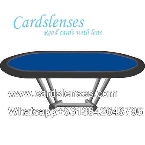 Mesa de juego de cartas de perspectiva para uso de trucos de tarjetas