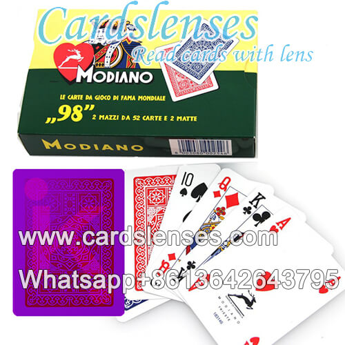 modiano 98 double decks juice marked cards