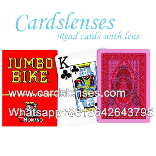 modiano jumbo bike invisible juice marked cards