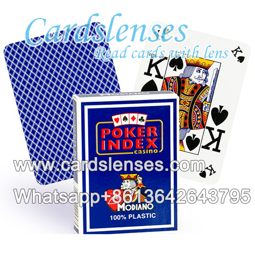 gamble tricks marked cards Modiano Poker Index