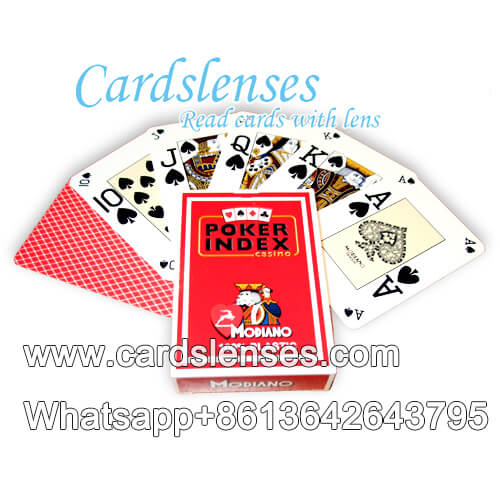 modiano poker index playing cards