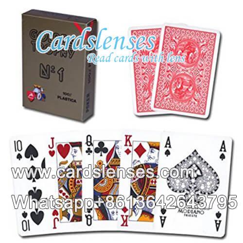 modiano troféu dourado cartões do póquer