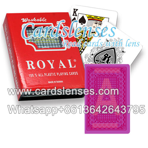 Royal regular index playing cards with cards markings