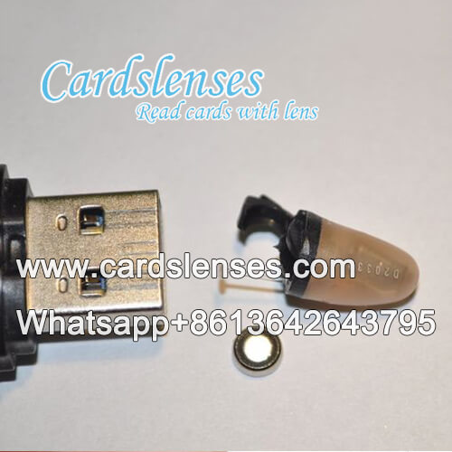 earpiece for marked cards camera