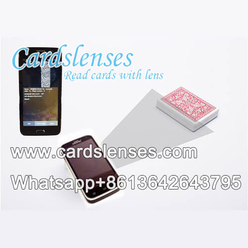 Special 1-1 barcode marked poker cards scanner