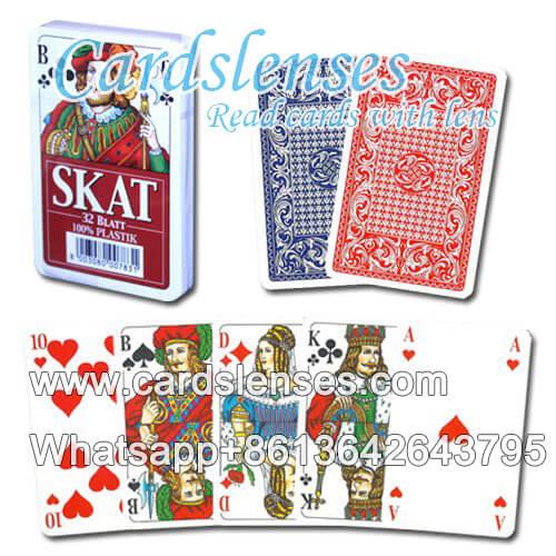 Gezinkte Pokerkarten