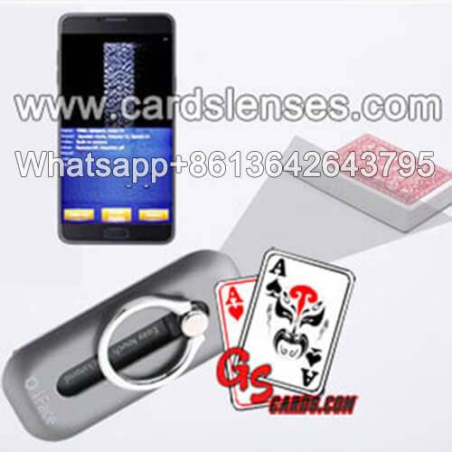 Cell Phone Finger Ring Stand Holder Poker Cheat Card Scanner