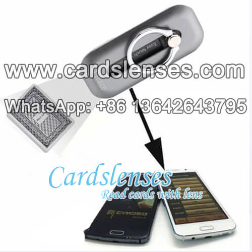 phone case hard ring poker scanning camera