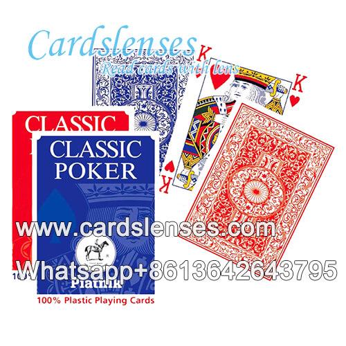 Marcas invisíveis em Piatnik 595 cartões azuis