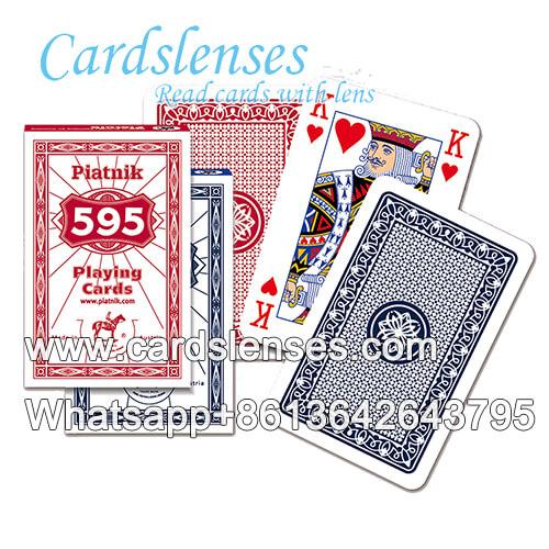 Marcas invisibles en Piatnik 595 tarjetas azules