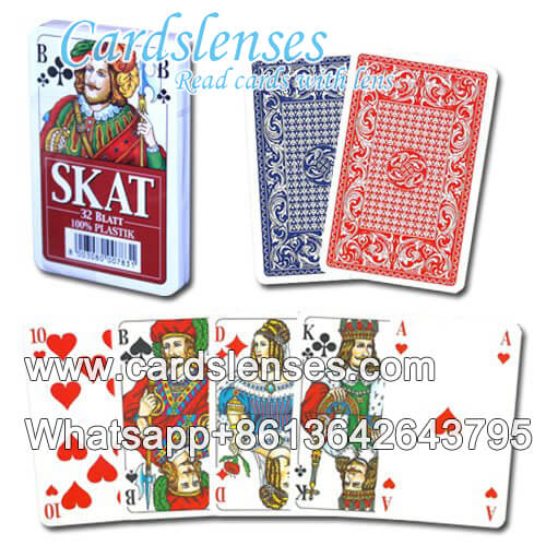 Invisible ink marks on Piatnik 595 red poker cards