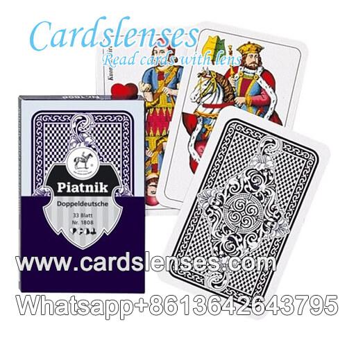piatnik doppeldeutsche nr.1808 black marked cards