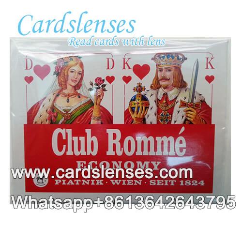 segni di inchiostro invisibile sulla Piatnik Economy carte da poker azzurro