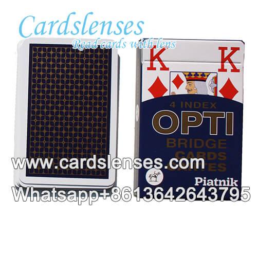 Casino Piatnik OPTI azul baralho marcado poker