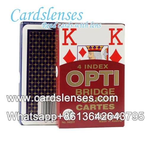 Marked playing Piatnik OPTI cards with tricks