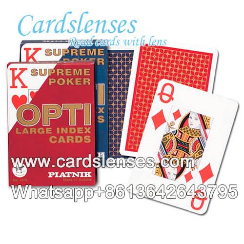 Engañando Piatnik OPTI tarjetas del tamaño del bridge de índice grande