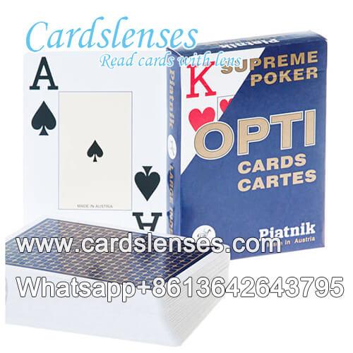 Cheating Piatnik OPTI bridge size cards of large index