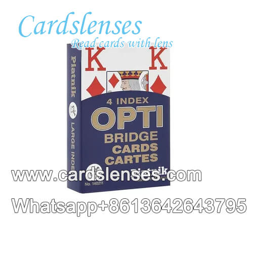 piatnik opti poker marked playing blue cards
