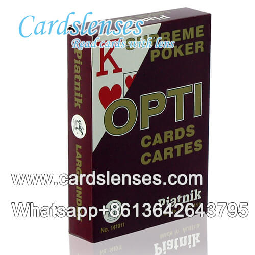 piatnik poti poker marked playing red cards
