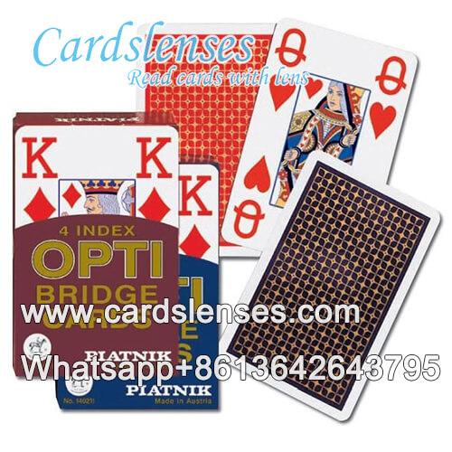 Marcas de tinta invisibles en Piatnik OPTI cartas de póker roja