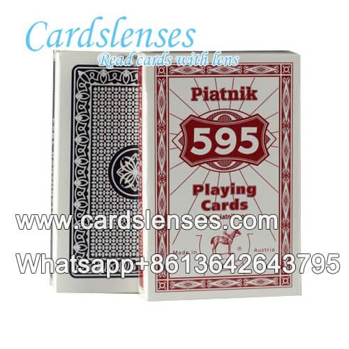 Marcas de tinta invisibles en Piatnik 595 rojo tarjetas de poker