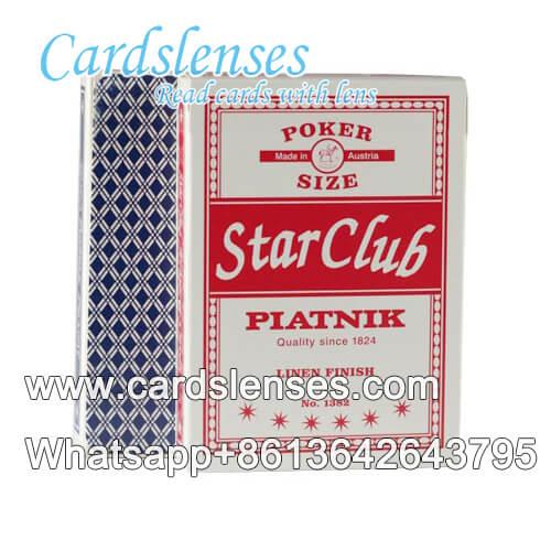 Piatnik star club tarjetas de engaño marcadas