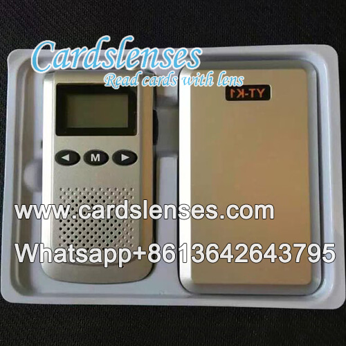 playig cards spy marked cards poker walkie talkie