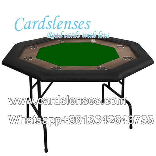 8 Jugadores octágono plegable mesa de póker