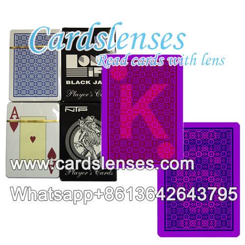 NTP tarjetas de juego de póquer con marcas