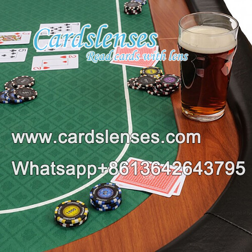poker table with hidden camera to see covered marks