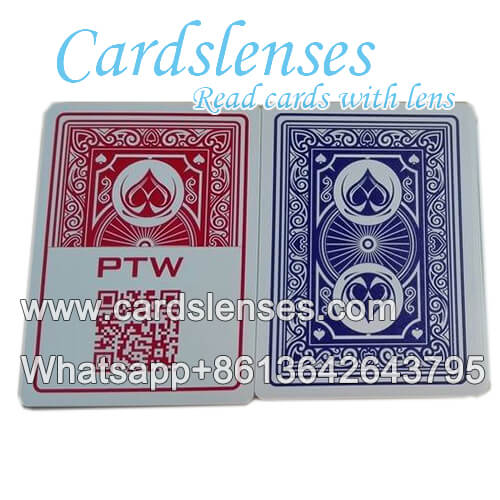 PTW marked poker cards with tricks