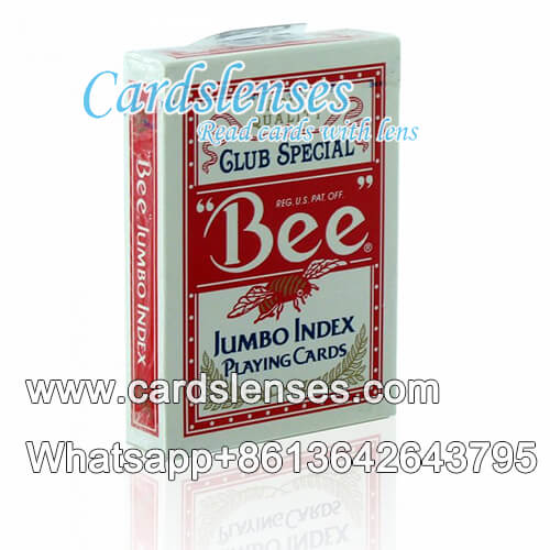 bee red playing cards no.77