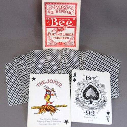 red standard bee no92 playing cards