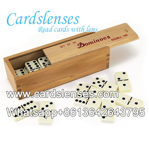 Tinta invisível luminosa IR duplas 6 pontos pretos marcados dominós