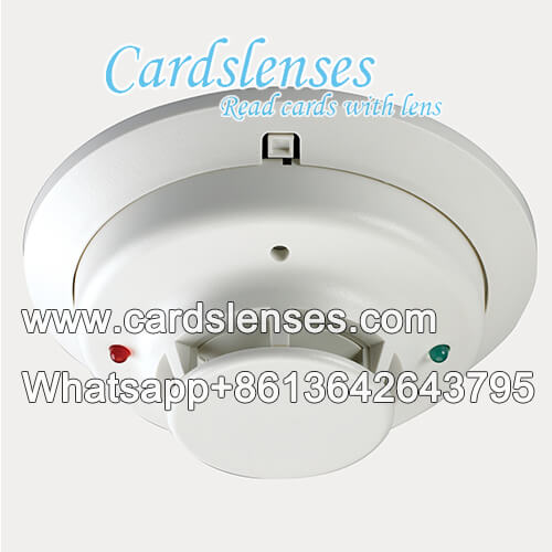 smoke detector ir camera seeing secret marks playing cards