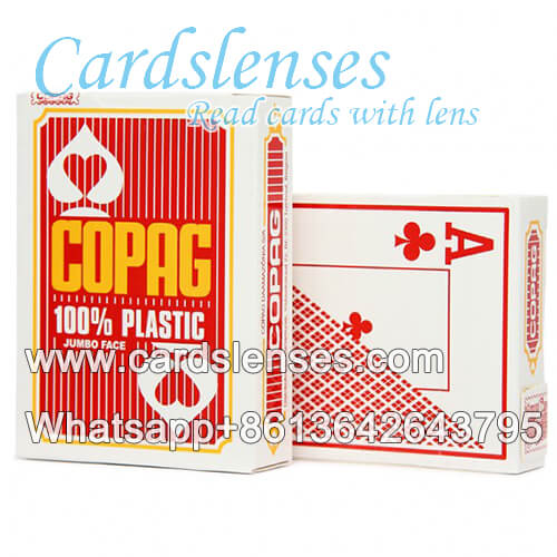 Copag Jumbo Face blue light infrared marked cards