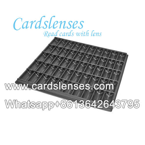 square chip tray with double lens for play cards tricks
