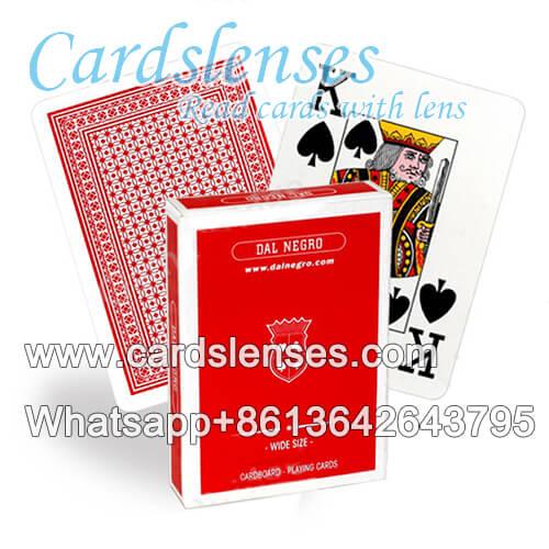 Dal Negro tamaño ancho marcas cartas de póquer