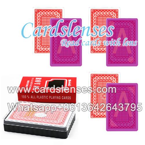 lentes de contacto baraja marcada royal tamaño ancho tarjetas plásticas