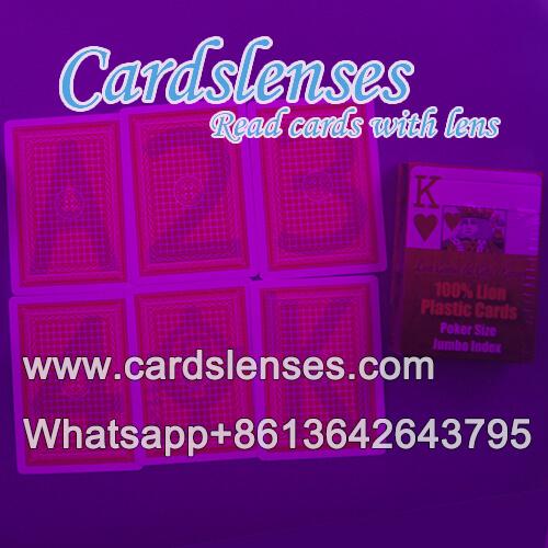 professionell markierte Karten von Lion Plastikkarten