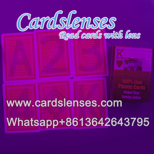 Baraja marcada profesionalmente de tarjetas de plástico Lion