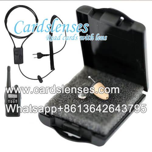 Auricular para cámara de cartas marcadas