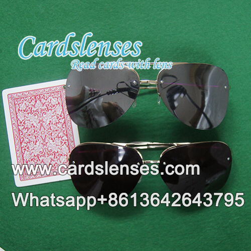 Luminous UV invisible ink juice marked playing cards with glasses