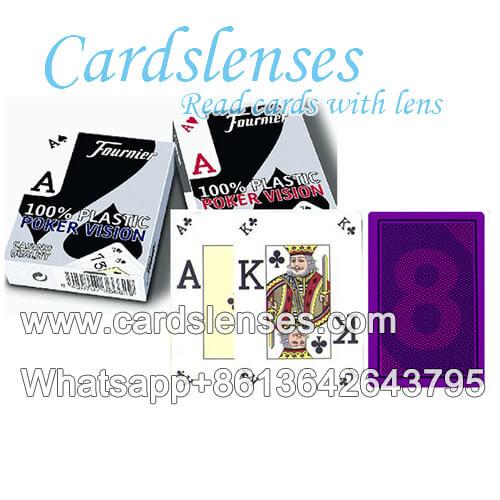 Fournier visão de poker baralho marcado para lentes de contato